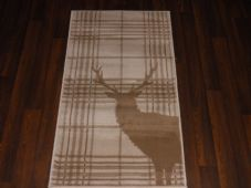 Modern Approx 4x2 60cm x 110cm Novelty range new checked stag beige/cream rugs